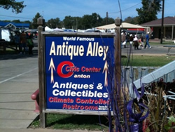 Shoppers always enjoy Antique Alley in the Canton Civic Center