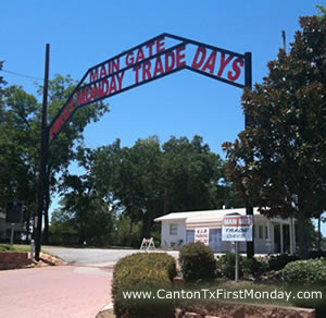 Main Gate Entrance to First Monday Trade Days in Canton
