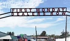 The Dealers Row Gate at First Monday Trade Days in Canton Texas on Highway 19