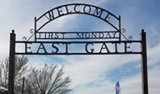 The East Gate at First Monday Trade Days in Canton Texas on Highway 19