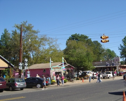 Downtown Edom, Texas, just east of Canton