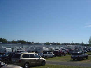 Parking at First Monday Trade Days in Canton
