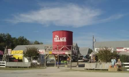 Entrance area to The Village, at First Monday Trade Days in Canton TX
